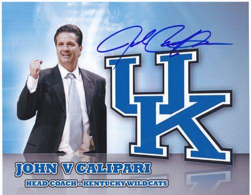 John Calipari signed autographed 8 x 10 photo University of Kentucky via Ernestineh Felb
