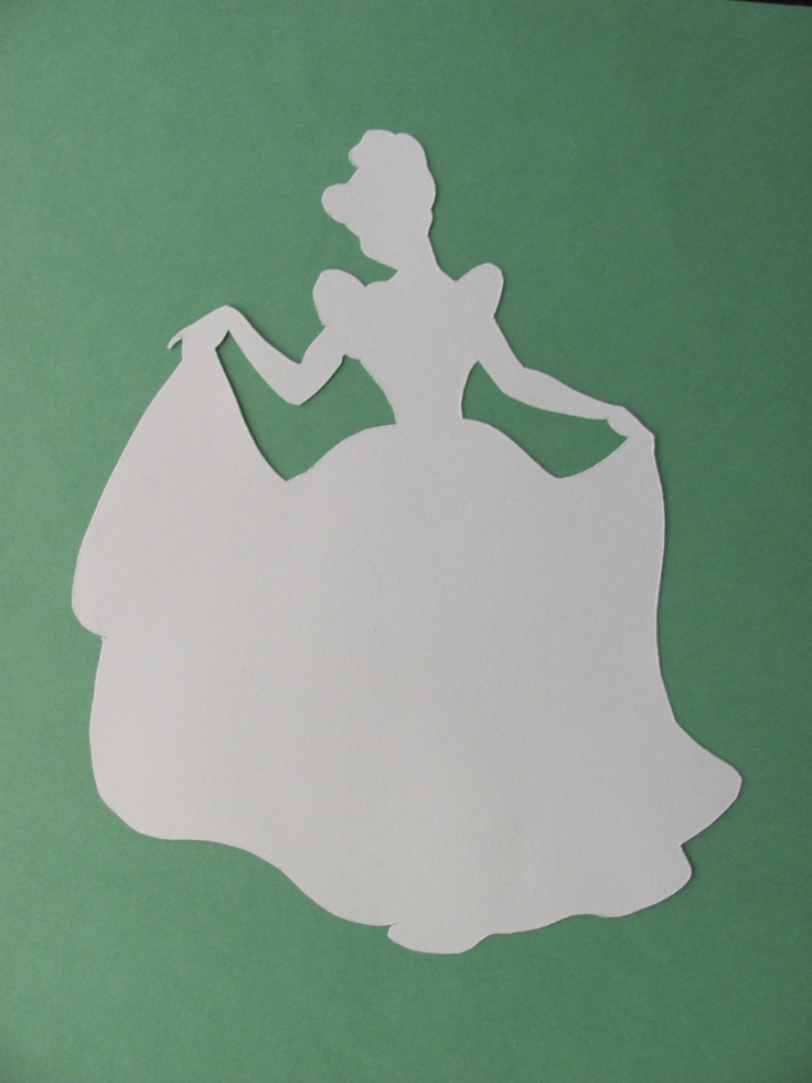 Disney inspired Princess Cinderella silhouette- a dream is a wish your heart makes