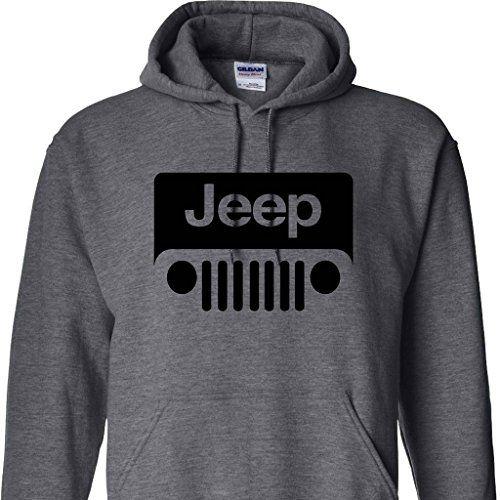 Dark Heather Jeep Wrangler Logo Hoodie