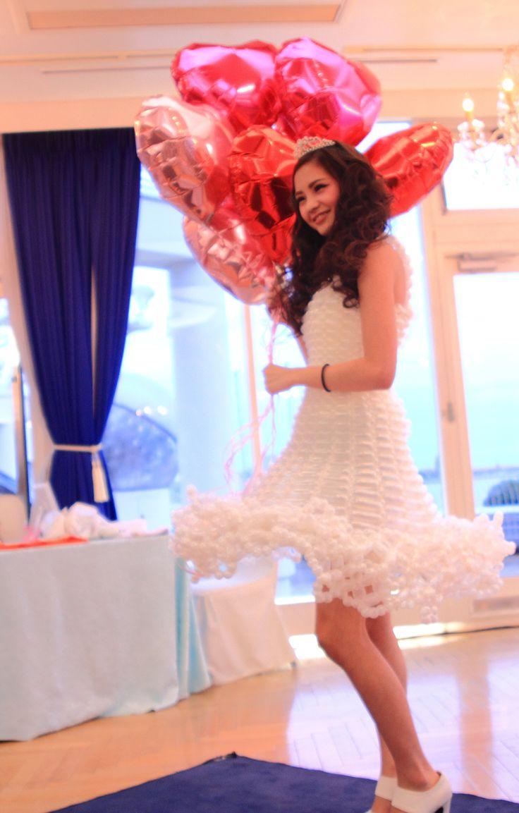 バルーンドレス model 濱崎美潤 photographer noriko  Balloondress  THE TERRACE OF KOBE PACIFIC【Tiara Princess 〜Fashion Show&Beauty Viking〜】