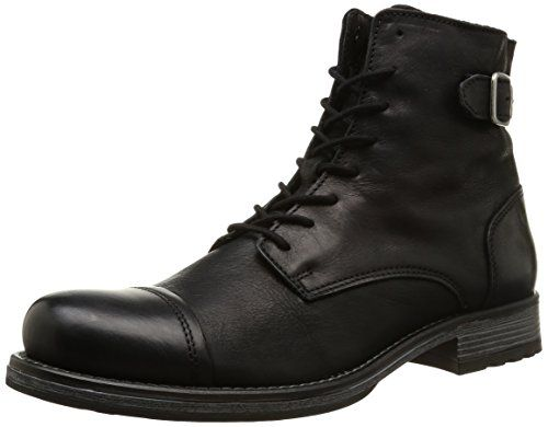 JACK & JONES Jjsiti Leather Boot Black, Herren Halbschaft Stiefel, Schwarz (Black), 43 EU - http://on-line-kaufen.de/jack-jones/43-eu-jack-jones-jjsiti-herren-halbschaft-stiefel-2