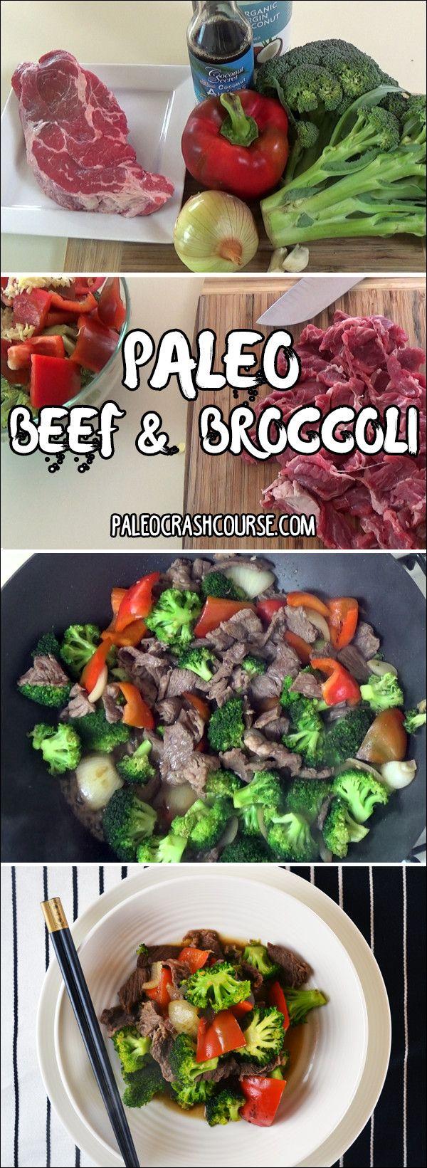 A yummy paleo friendly beef and broccoli stir fry!   http://paleocrashcourse.com/paleo-beef-and-broccoli/