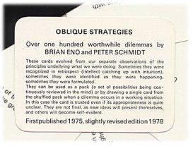 oblique strategies instruction