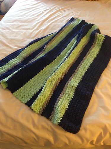 14d4897fe2bf Ravelry  elwong s Seahawks colors Baby Blanket