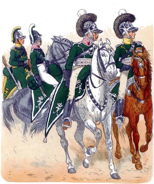 Wirttembergia-shooters konni 1808, from left to right: private Regiment of Prince Louis, the King's Regiment Regiment officer serial King, an officer in the regiment of Prince Louis. Fig. R. Knotel.