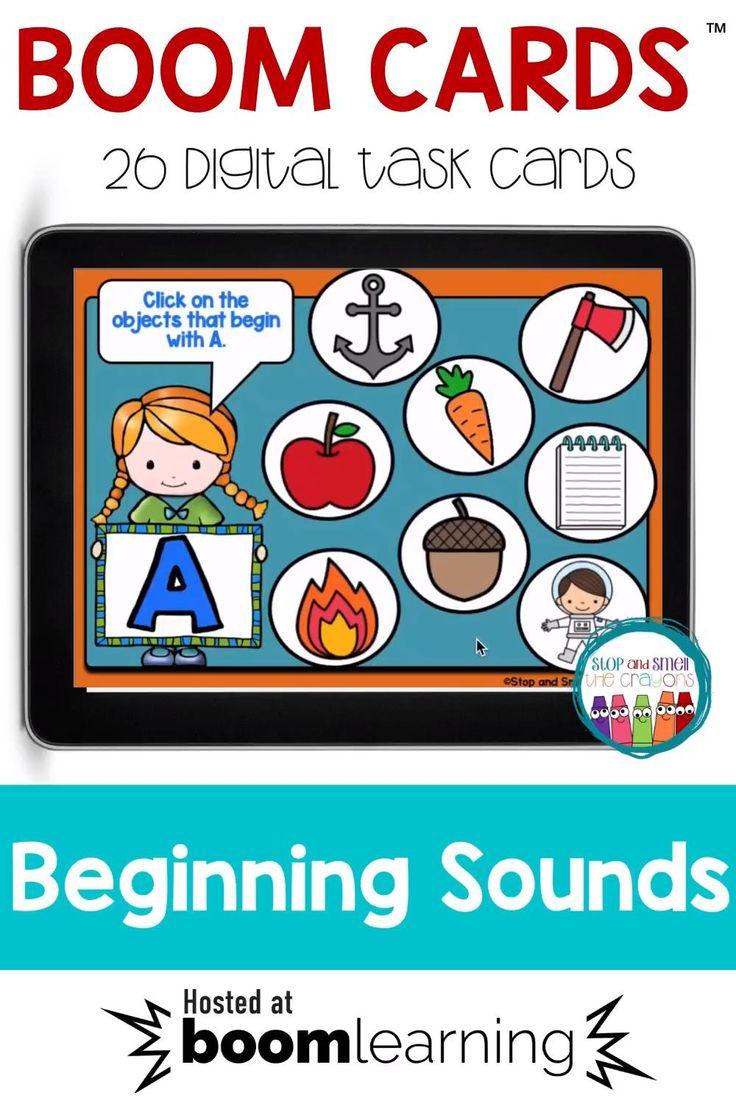 Beginning Sounds Boom Cards Digital Task Cards [Video