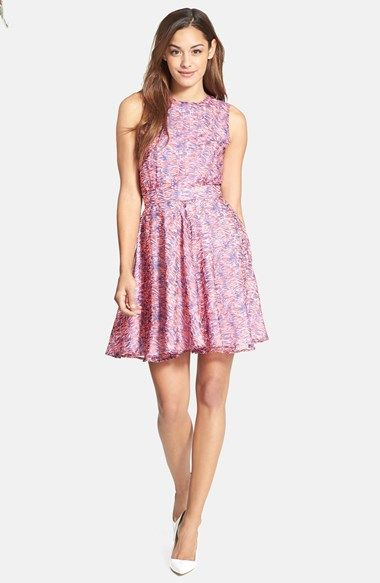 French Connection Print Fit Flare Dress Available At