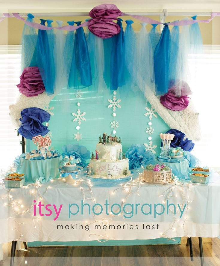 Frozen party theme, Ideas for Frozen party, Cute Frozen party decor, Frozen Party games and game ideas.