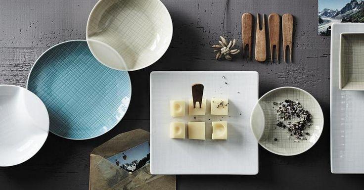 Focus.de - Das Besondere am neuen Geschirrset Mesh von Rosenthal: Manche Teller sind so geformt, dass sie halb auf einem anderen Teller stehen können - Foto