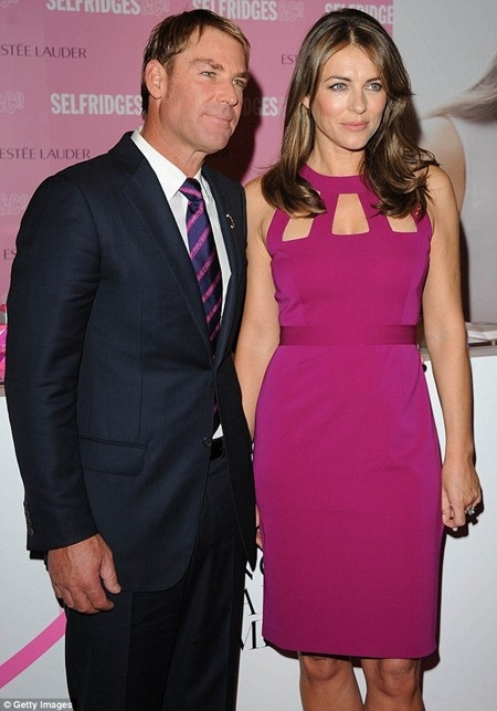 Liz Hurley and Shane Warne's Breast Cancer Awareness campaign  #Liz Hurley and Shane Warn  #Liz Hurley and Shane Warne at Breast Cancer Awareness Campaign