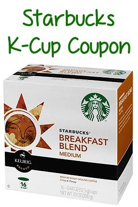 Starbucks Coupons: $1.50 off 1 K-Cups, $2 off 2 Coffee + more!