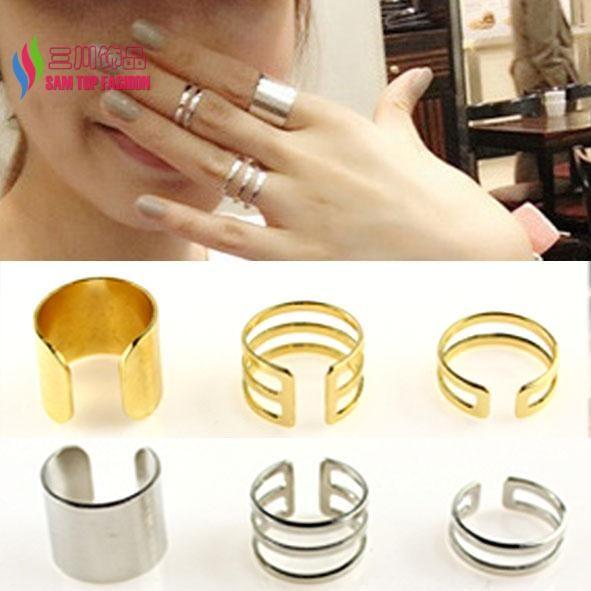 2014 nieuwe collectie fashion hot designer mat goud zilver legering uitsparing manchet vinger ringen voor vrouwen bagues bijoux anillos
