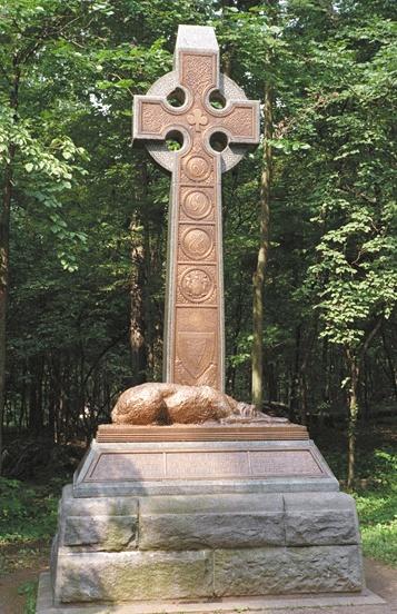 Irish Brigade monument, Gettysburg.
