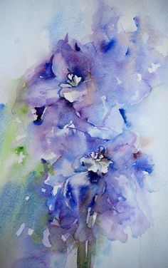 Watercolor art by Jean Haines - impressionism - just beautiful....