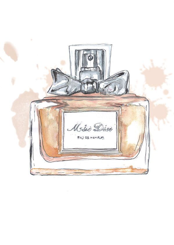 miss dior perfume illustration miss dior pinterest. Black Bedroom Furniture Sets. Home Design Ideas