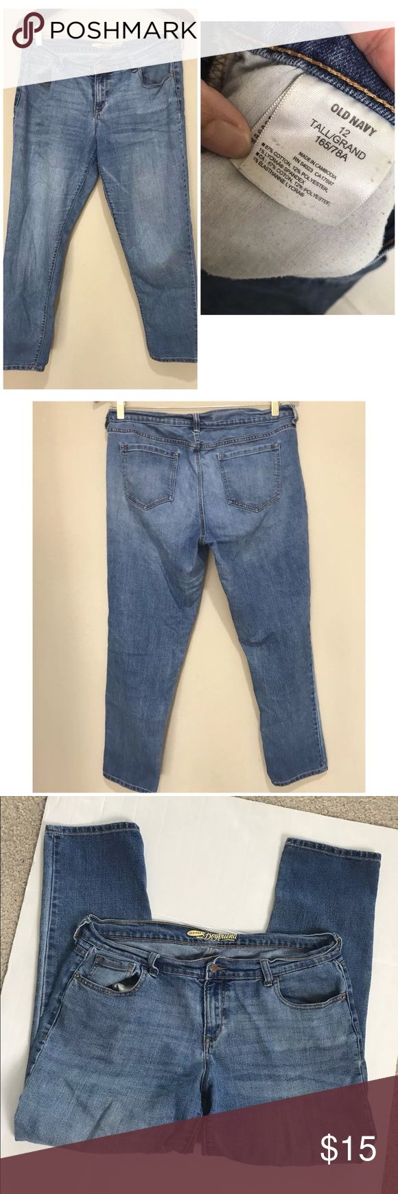 Old navy tall boyfriend capri ankle jeans in good used condition  waist approxim…