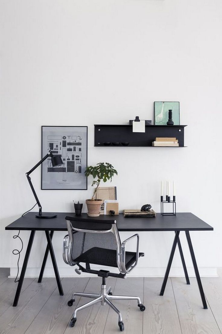 24 Best Home Office Ideas For Small Spaces In 2020 Home Office Design Minimalist Home Home Office Decor