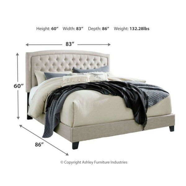 Macclesfield Upholstered Standard Bed In 2020 Queen Upholstered