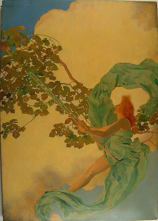 Maxfield Parrish American Illustrator - Girl on a Swing - always loved swings