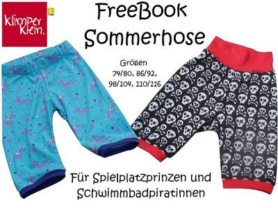 Freebook / Tutorial / Nähanleitung / Schnittmuster kostenlos / Kinderhose / Sommerhose für Kinder / nähen / Sommer-Hose / Hose / sewing / free pattern and instructions / pants / trousers / for kids / children