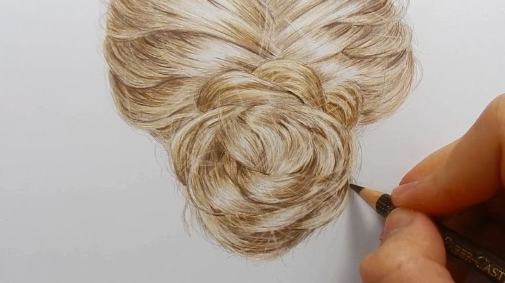 Tutorial | How to draw realistic hair with colored pencils - YouTube