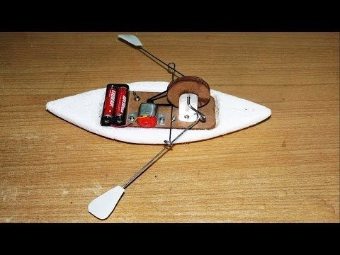 How to make a Toy Rowing Boat - YouTube