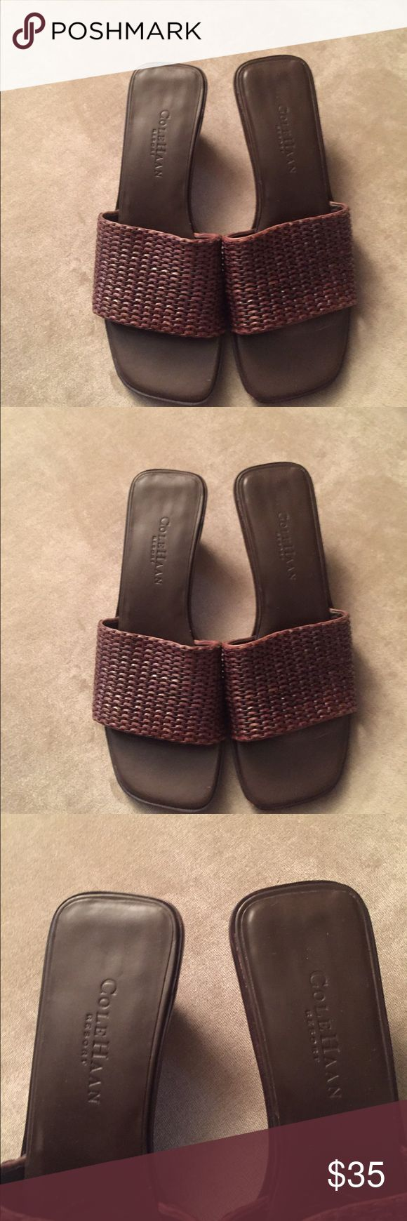 ✂️⚡️SALE Cole Haan Slide in Sandals These are slightly worn Cole Haan sandals in a brown size 7.5 Cole Haan Shoes Sandals