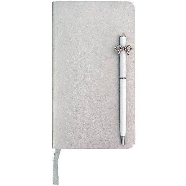 Ice London Ice London Notebook &Amp; Pen ($23) ❤ liked on Polyvore featuring home, home decor, office accessories, black ink pens, white notebook, ice london, writing notebook and white pen