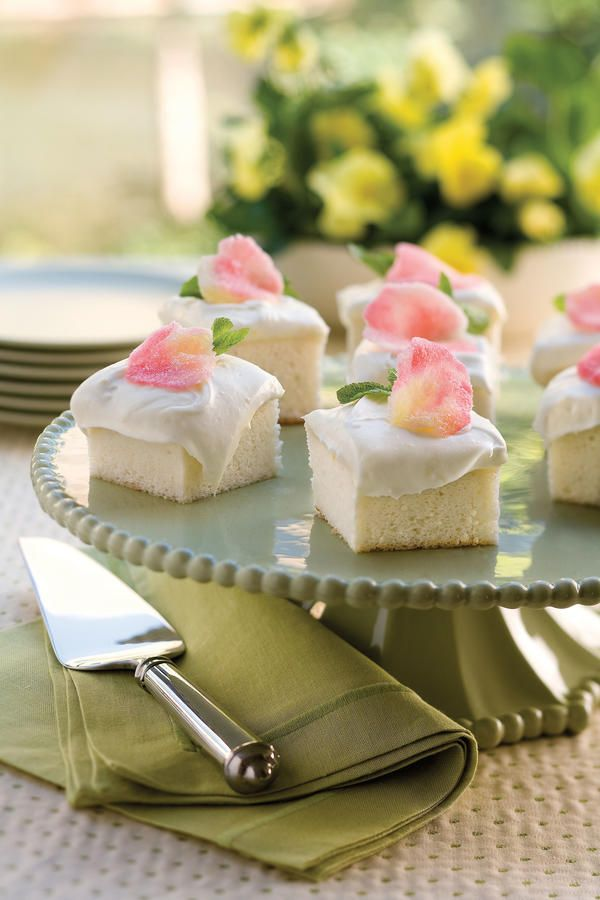 These sheet cake recipes are Southern party classics. From birthday parties to baby showers—we can't think of any occassion that doesn't call for one of our Party-Perfect Sheet Cake Recipes!  The rich, moist texture of this divine angel food cake is unlike any other. Made from scratch in minutes, it's spread with frosting that's a lemon lover's dream.     Recipe: Heavenly Angel Food Cake