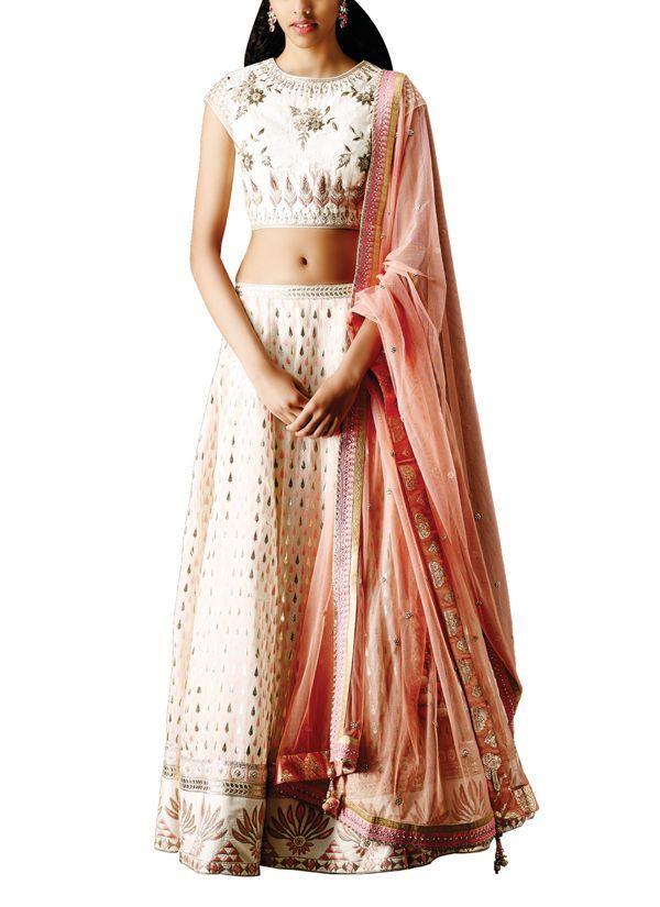 Indian Fashion Designers - Anita Dongre - Contemporary Indian Designer - Lehengas - AD-SS15-SS15SJ018LCD - The Malika Lehenga