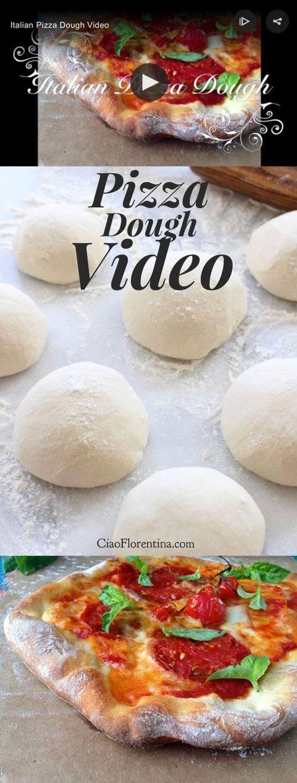 Authentic Italian Thin Crust Pizza Dough Recipe VIDEO | CiaoFlorentina.com @CiaoFlorentina
