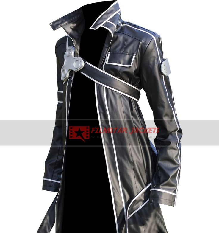 Anime Characters Leather Jacket : Sword art online kirito leather coat
