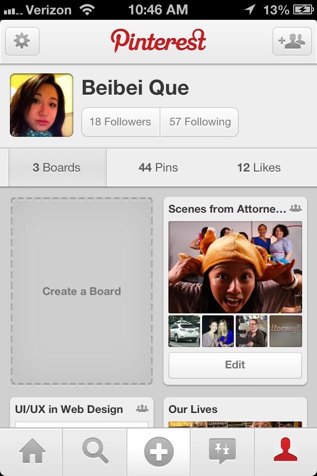 Profile Pinterest
