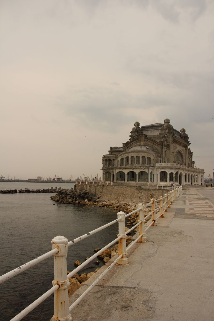 #Abandoned casino in Constanta, Romania, on the Black Sea. It's been empty since the Communist era (built in 1905).                                                                                                                                                      More