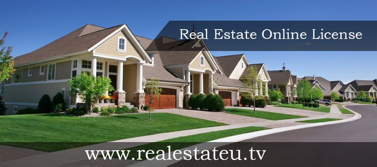 A simple and affordable way to get your NYS, Texas or California real estate license on-the-go. http://realestateu.tv