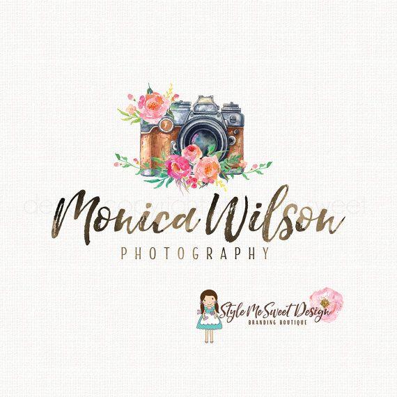 camera logo design photography logo by stylemesweetdesign on Etsy