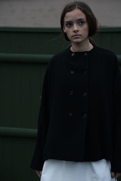 Apuntob Button Wool Jacket Nero