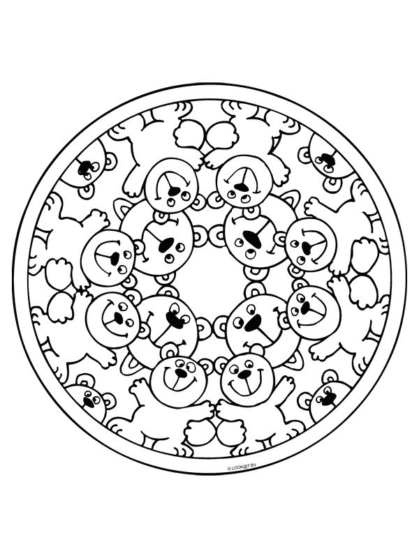 mandala coloring pages - Pictures For Kids To Colour