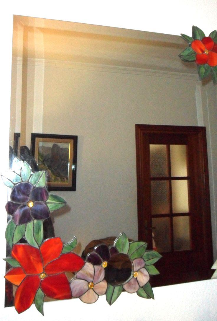 Espejo floreado