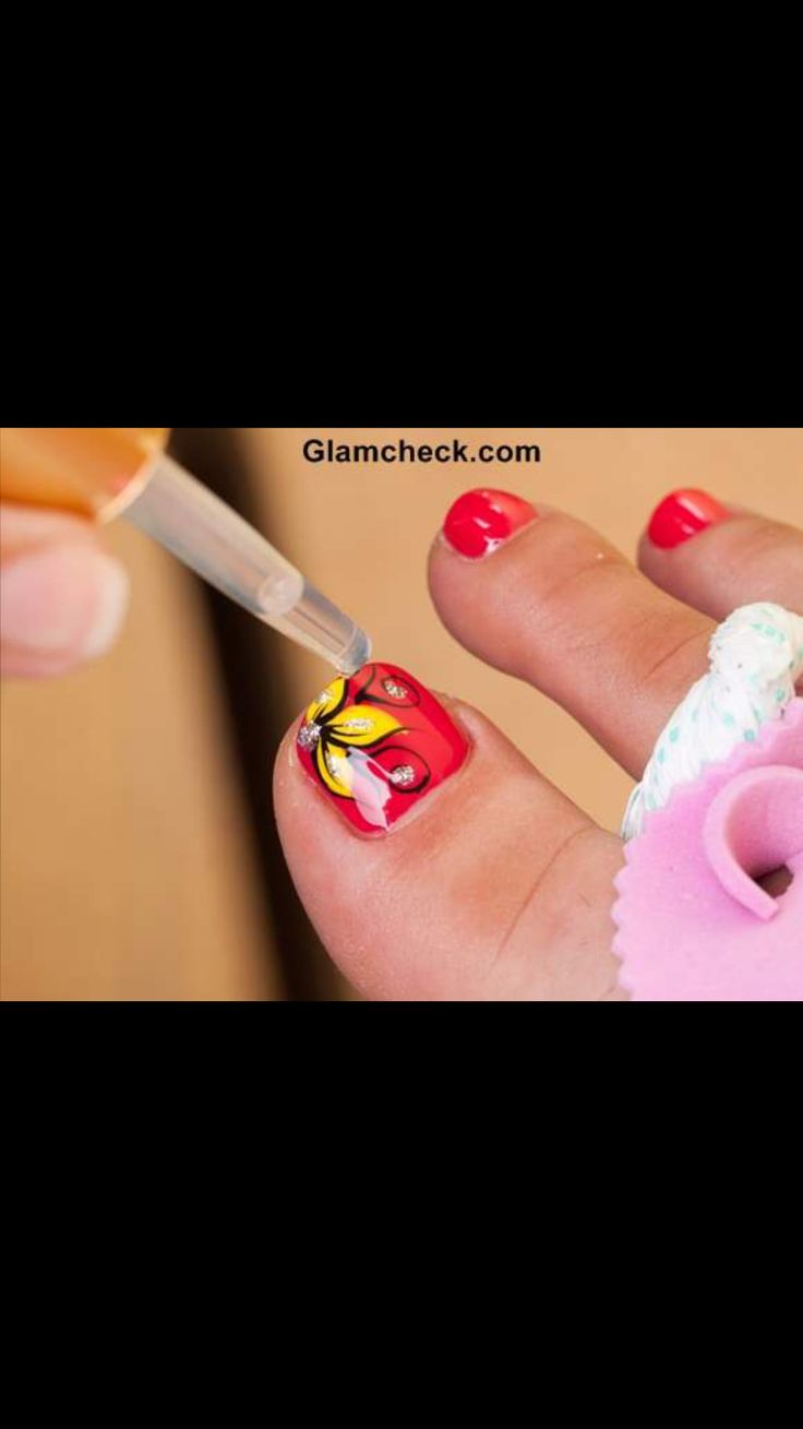 Tropical nail art. I currently have this one in my toes. I love it.