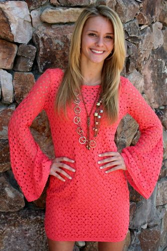 SHOP Apricot Lane Online: Apricot Lane Crochet Dress...I freaking love this!!! Would be great with cowboy boots ;)