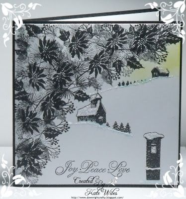 handmade CAS Christmas Card using Cardio - Majestix stamps Downrightcrafty