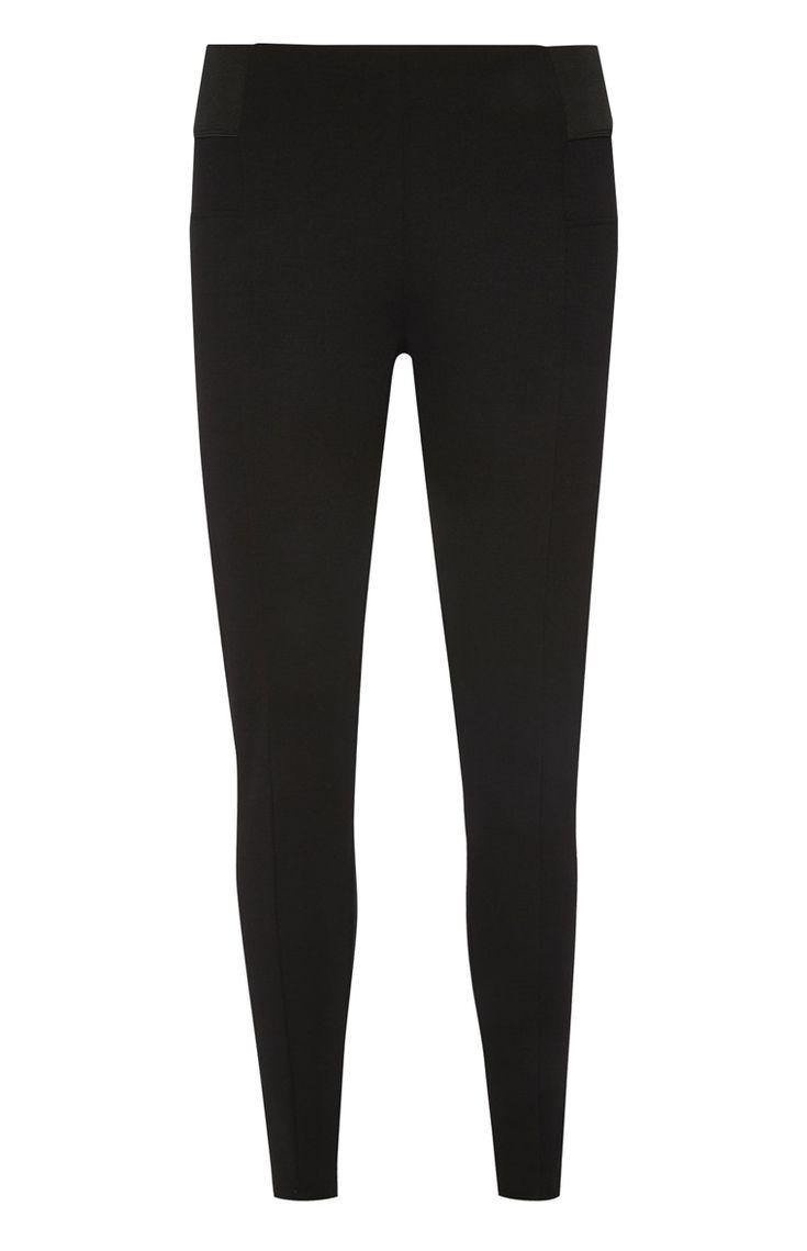 Primark - Zwarte legging met elastieken tailleband