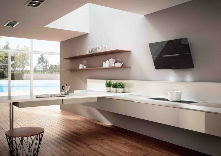 Silent, powerful, functional: Jolie Act is a versatile cooker hood with a clean, simple design.  The central slit in the panel contains electronic controls to ensure ease of use and maximum cleanliness. Jolie Act is equipped with Sil-K ACT technology and benefits from dual extraction to boost its performance eliminating smoke and odours.