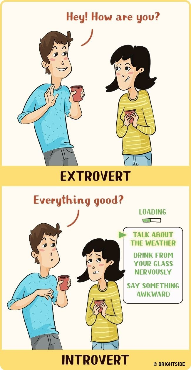 12 illustrations showing how introverts and extroverts see the world