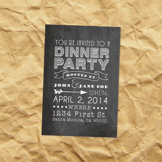 19 best Dinner Party images on Pinterest Dinner parties, Dinner - Free Printable Dinner Party Invitations
