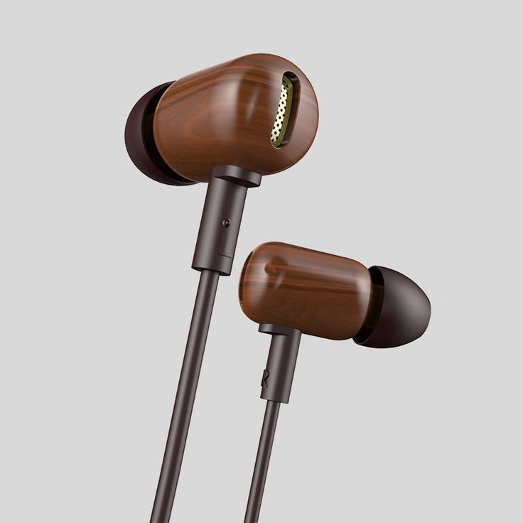 Universal Real Wooden HiFi Earphone With Bass Boost and Microphone