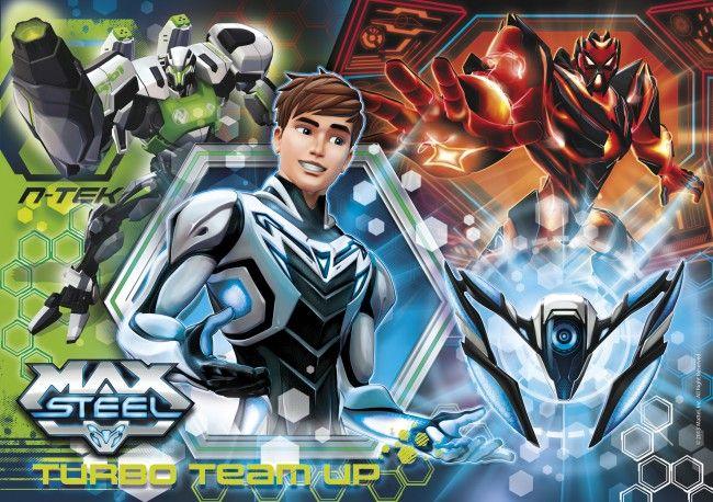 Photo Clementoni 30442 - Max Steel - Turbo Team-up - Jigsaw 500 pieces 1