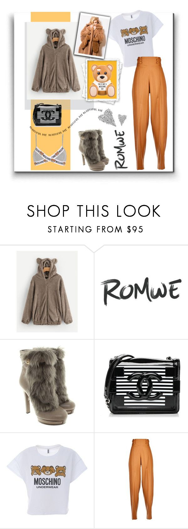 """""""Tedy bear"""" by belen-cool-look ❤ liked on Polyvore featuring Moschino, Gucci, Chanel, Marco de Vincenzo and MaxMara"""