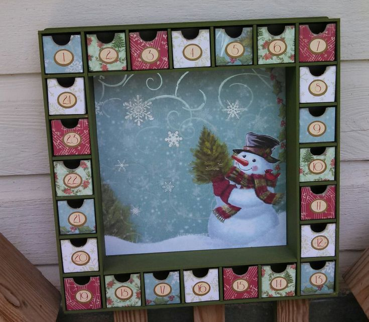 Cute Snowman Advent Calendar - Scrapbook.com